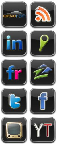 Real Estate Social Media Icons