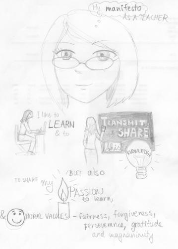 sketch of my Me Manifesto