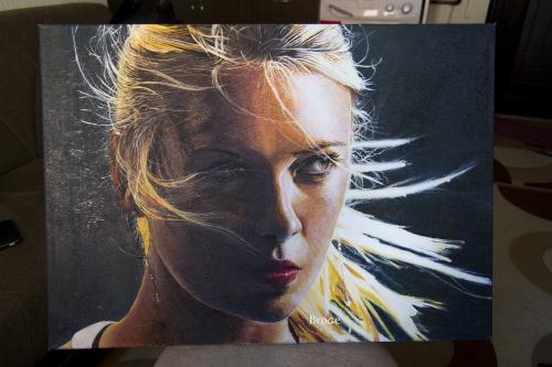 maria sharapova oil paint