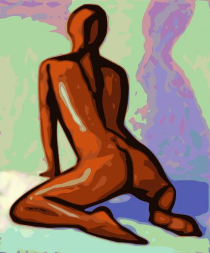 Figure Painting Orange