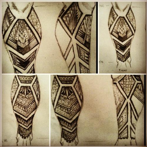 Leg Tribal Design Idea