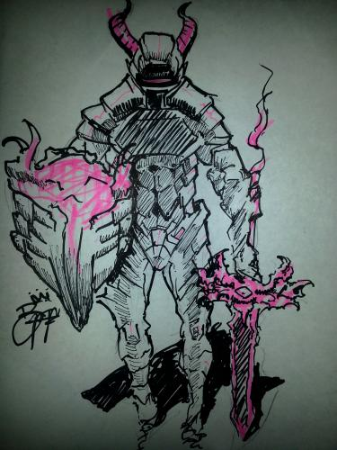 Andoid Demon knight concept