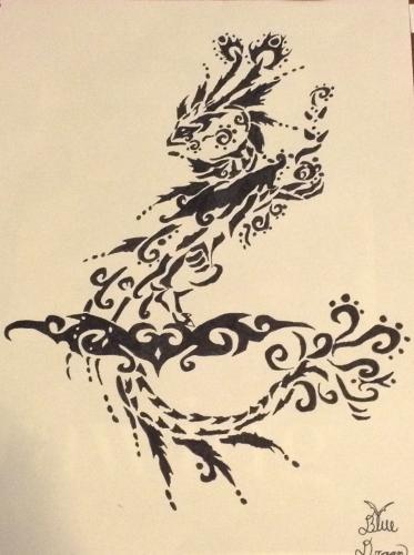 Elegent Fairy Dragon Tattoo