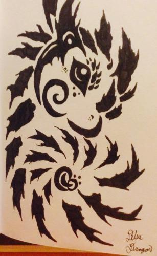 Fairy dragon bust tattoo