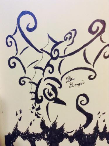 Elegant Fire dragon tattoo