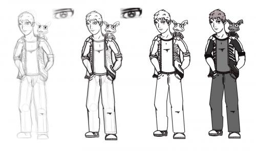 Skeleton- Quick Charcter Sketch1