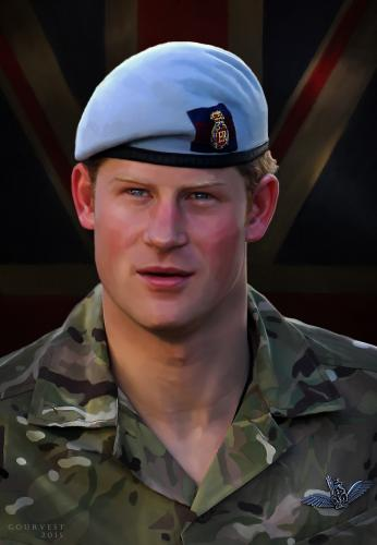 Prince Harry Windsor portrait