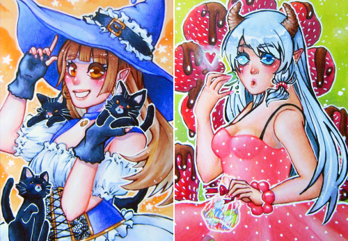 """Aceo cards """"Purrfect Day"""" & """"Sweets♥"""""""