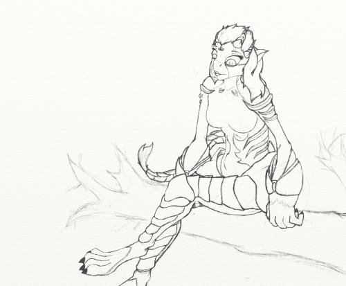 Keira Sketch WIP