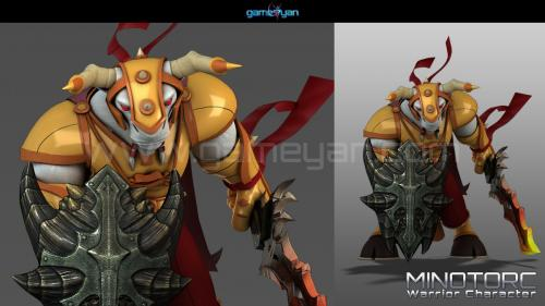 Minotorc Warrior Character Animation
