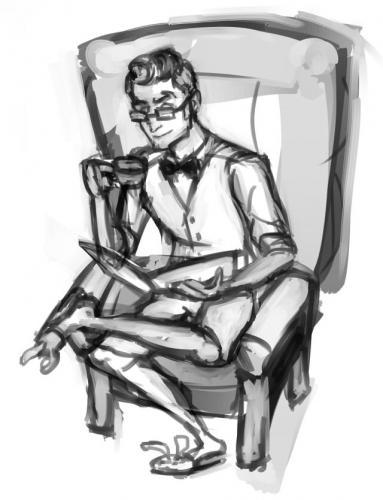 Vincent reading