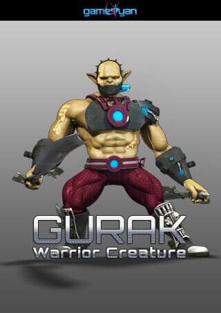 Gurak Warrior Creature Character Modeling
