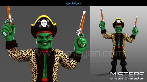 Misterf Pirates Character Modeling