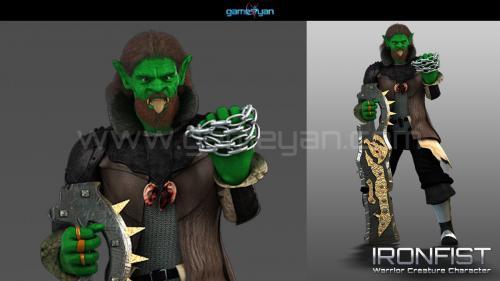 Ironfist warrior creature character animation