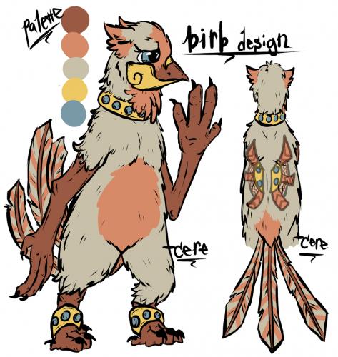 tribal bird design