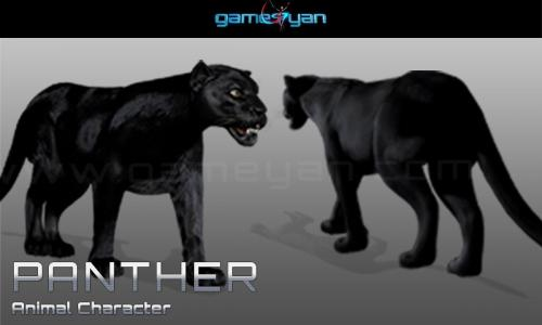 Black Panther Animal Character Modeling