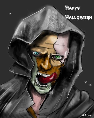 Happy Halloween from my frankenstein monster
