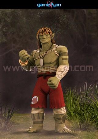 3d warrior creature character modeling