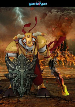 3d minotorc warrior character modeling