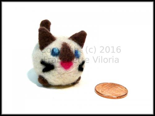 Needlefelt Chibi Siamese Cat
