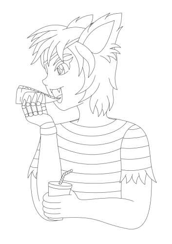 [WIP] Five Nights at Freddys: Foxy (lineart)