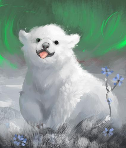 daily_paint___playful_little_polar_bear___58_by_dan_zodiac-da2eonu