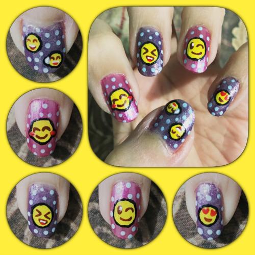 Emoji Nail Art Left