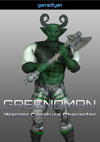 3d Greenoman Fantasy Warrior Character Modeling