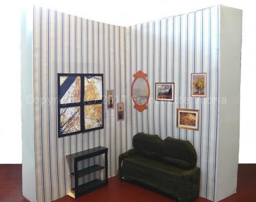 Foldable Paper Dollhouse