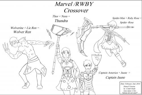 RWBY marvel crossover