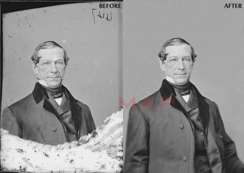 Old photography restoration