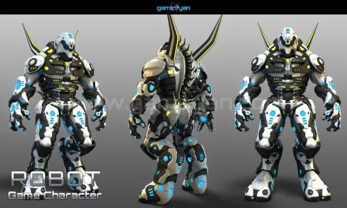 3D Robot Game Character Modeling