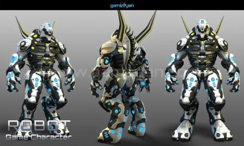 3D Robot Game Characater Modeling Australia, Perth