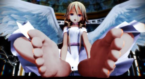 mmd giantess angel