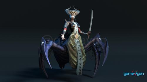 Gaming Low Poly Concept Character � Spider Mistress - Vegas, USA