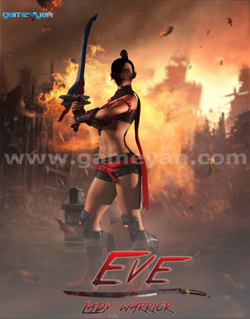 Eve-lady-warrior-character-animation-design