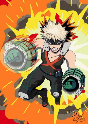 Bakugo from My Hero Academia
