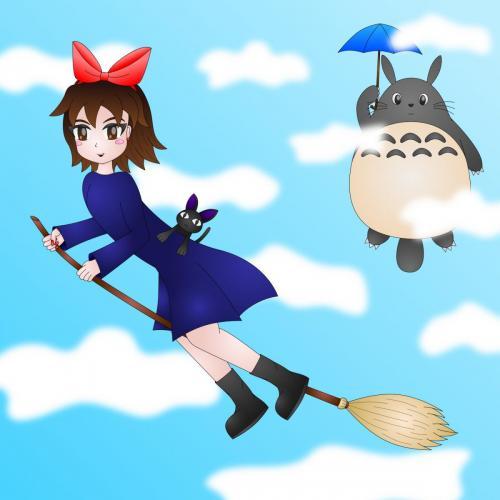 Kikis_Delivery_Service_Gigi_Totoro